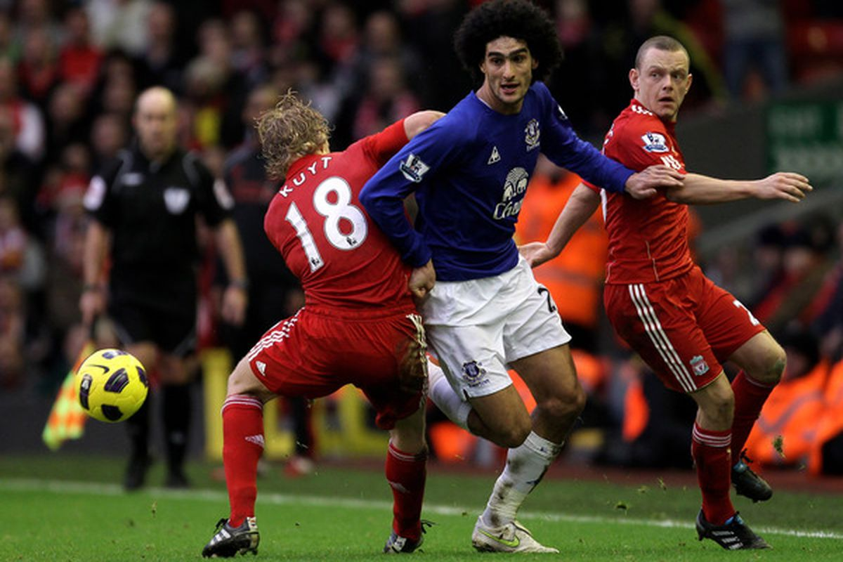 Marouane Fellaini should be fit to play in the derby this weekend.