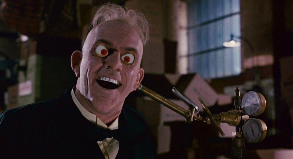 Judge Doom's cartoon eyes bug out in Who Framed Roger Rabbit