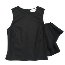Black cotton silk is easy to take from the office to the club.