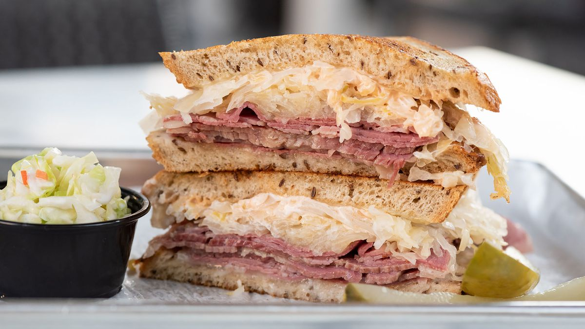 """Grilled reuben, also known as the """"Nana,"""" at Daughter's Deli"""