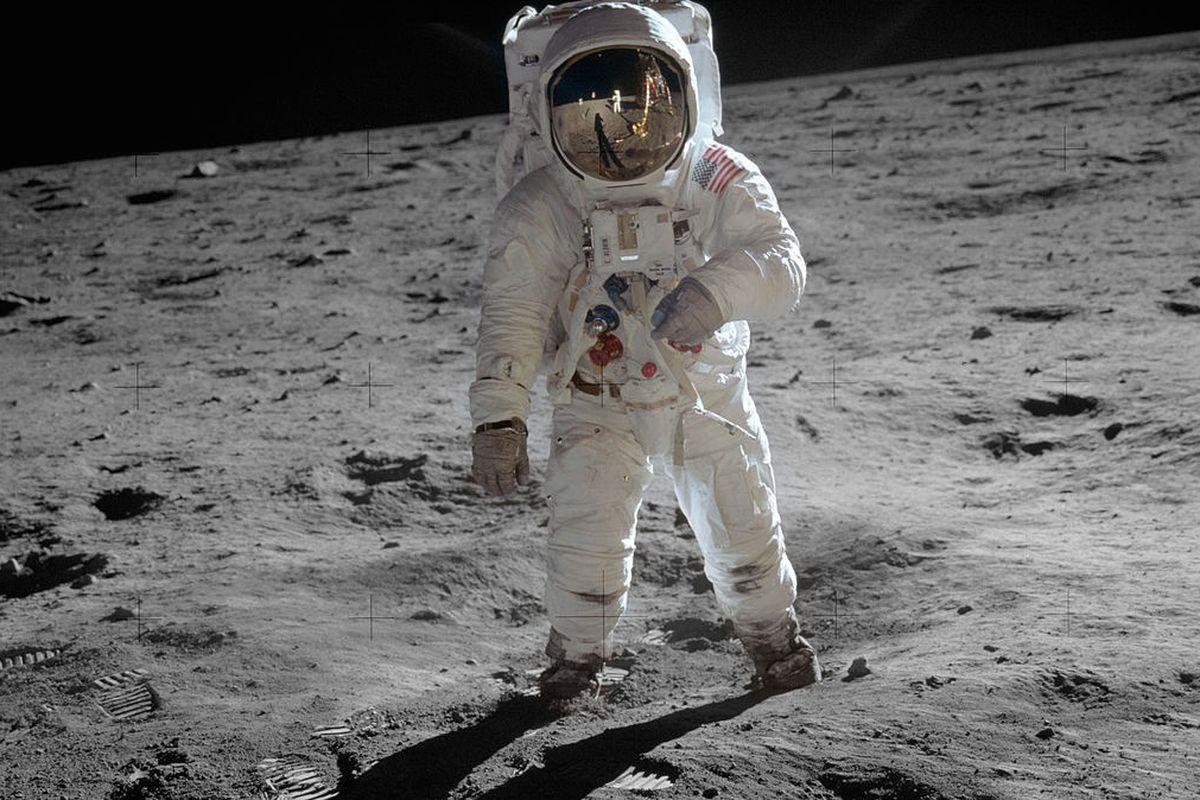 Buzz Aldrin, during the Apollo 11 mission.