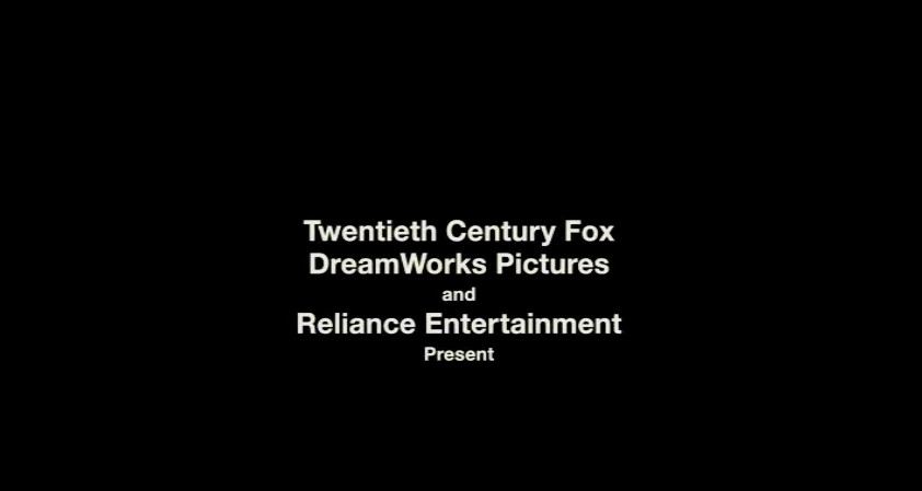 """Still of 'The Post' on a black background reading in Helvetica, """"Twentieth Century Fox DreamWorks Pictures and Reliance Entertainment Present"""""""