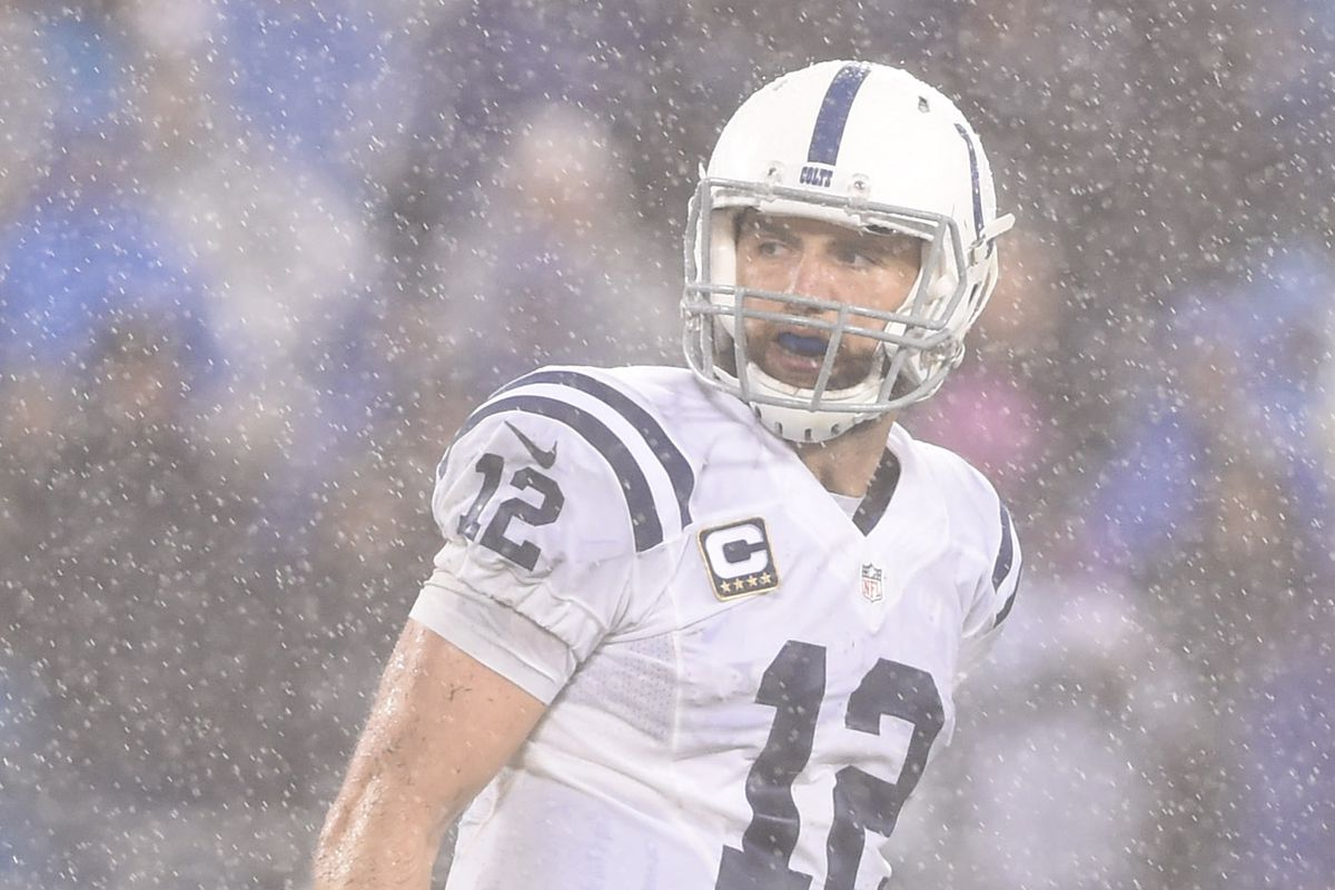 Andrew Luck, probably shortly before throwing an interception.