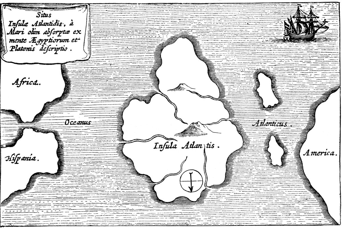 Legendary island of Atlantis.
