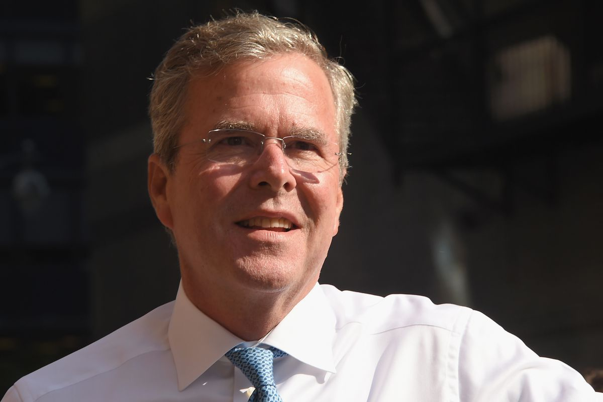 NEW YORK, NY - SEPTEMBER 08:  Republican presidential hopeful and former Florida Gov. Jeb Bush attends the first taping of 'The Late Show With Stephen Colbert' on September 8, 2015 in New York City.  (Photo by Michael Loccisano/Getty Images)