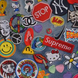 Patches! Customize your denim with TVT's selection of $9 flair.