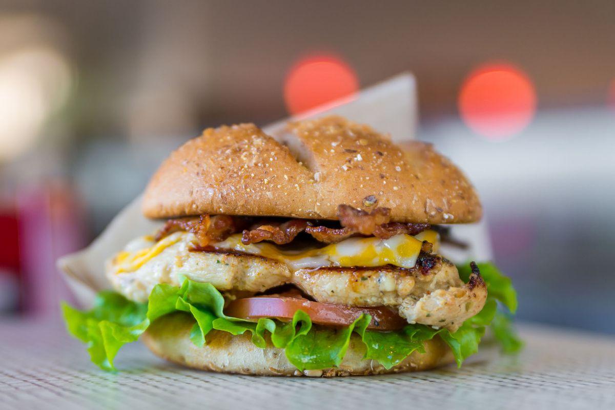 Chick-fil-A's grilled chicken club sandwich