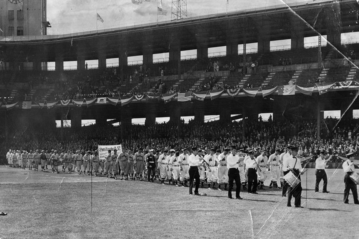 More than 12,000 fans turned out at Wrigley Field this afternoon to usher in the 1937 Pacific Coast baseball season with the Angels and San Diego furnishing the fireworks.