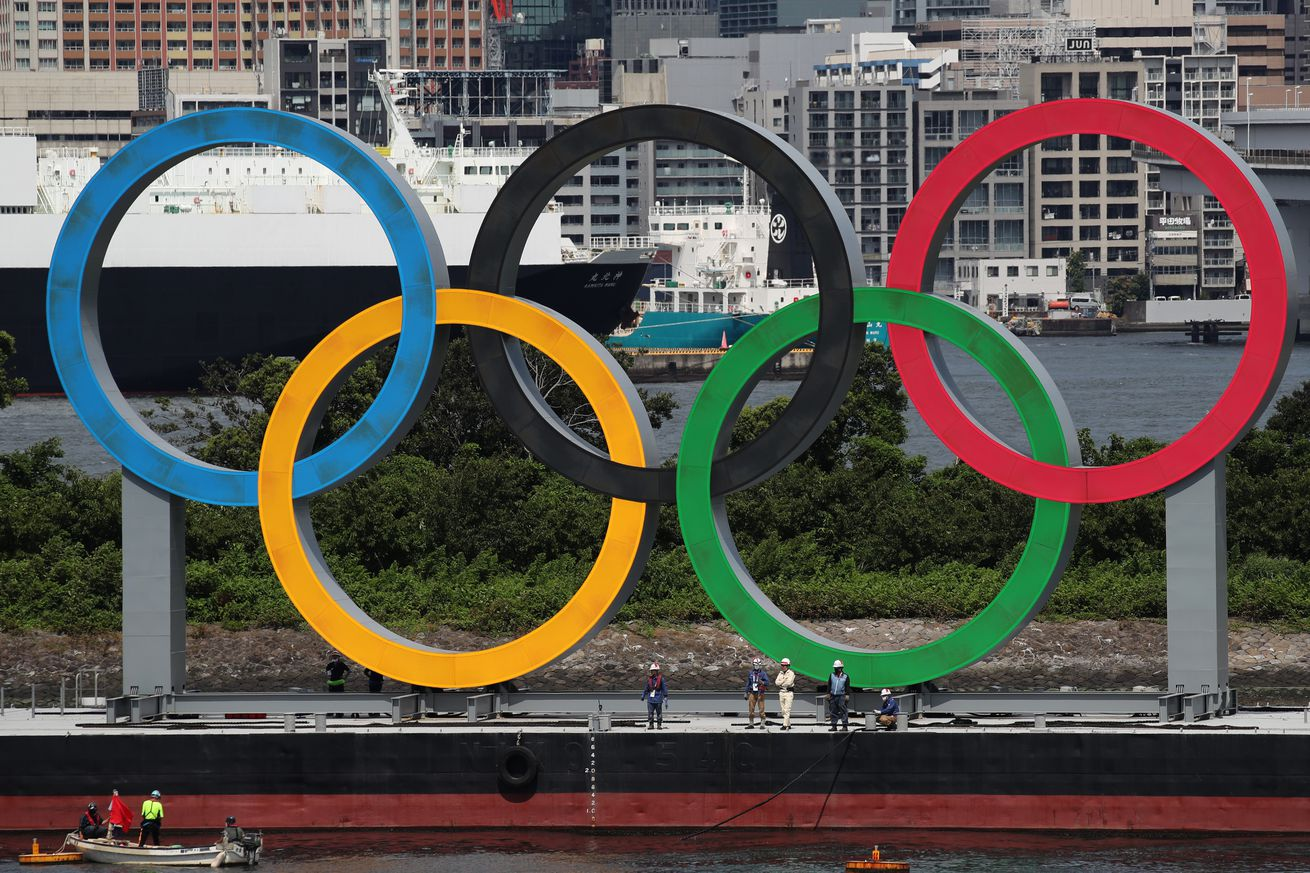 Giant Olympic Rings Removal After Tokyo Olympic Games