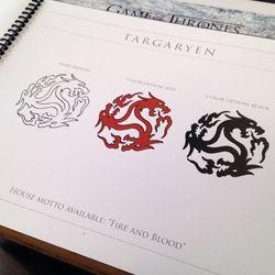 The Targaryan three-headed dragon