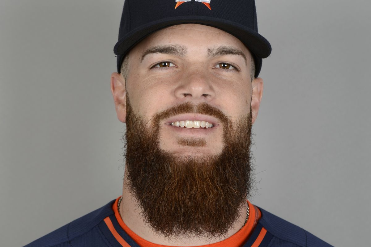 The beard is so big I can't fit it and Keuchel's hat in the same picture.