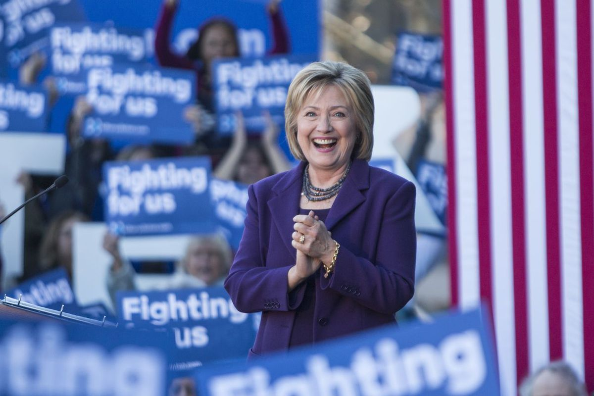 Clinton at a rally in New Hampshire on Monday. (Scott Eisen/Getty Images)