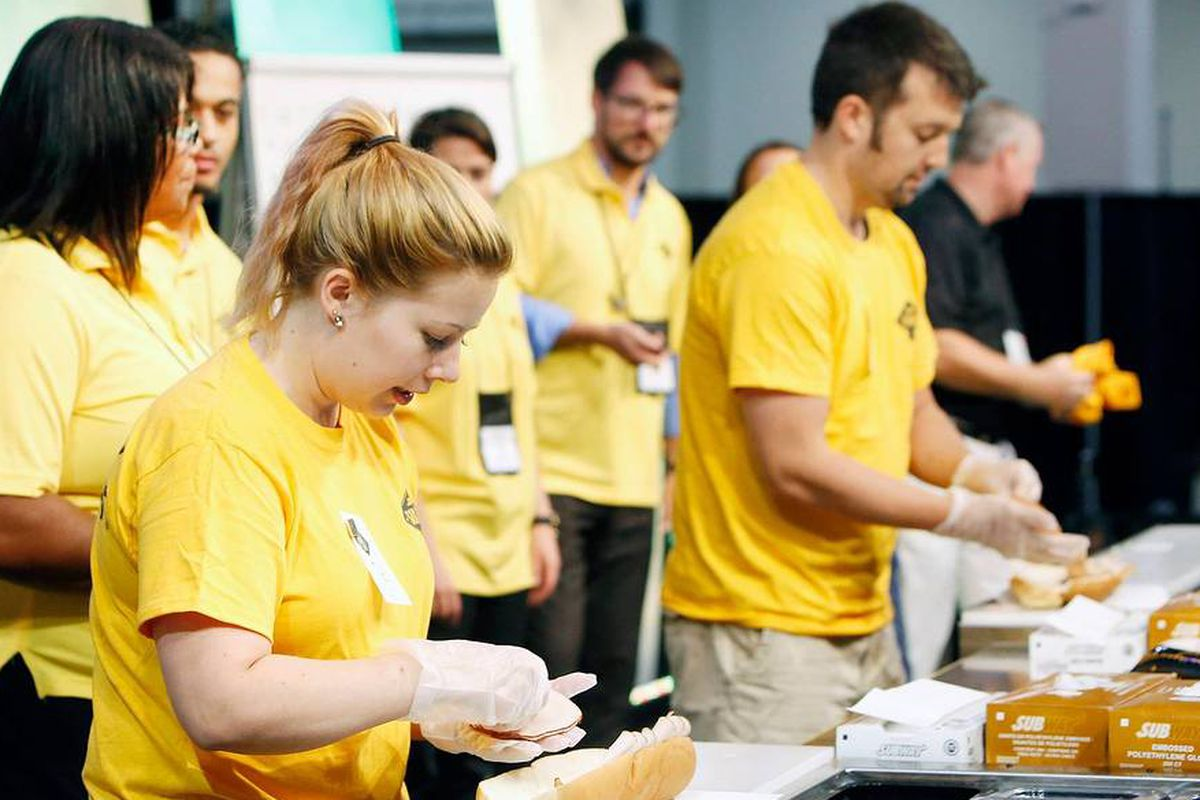 Subway employees and franchisees gathered at The Venetian in Las Vegas on Saturday.