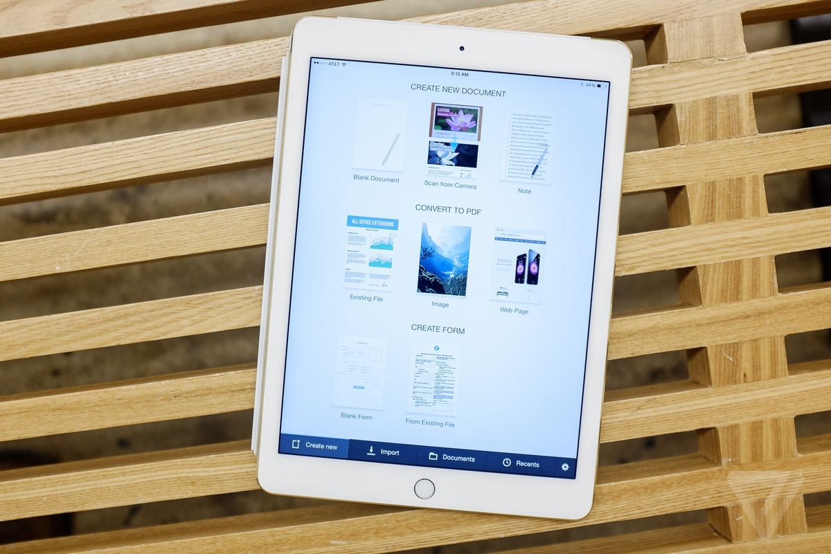 PDF Office for iPad converts images into PDF forms you can