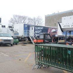 12:13 p.m. ESPN trailers in the new broadcast lot -