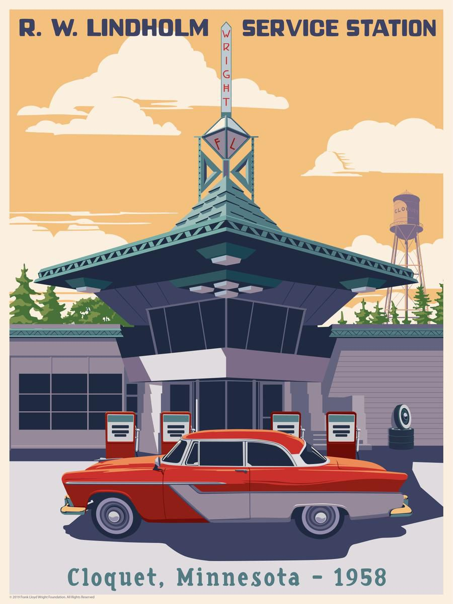 Poster of Frank Lloyd Wright building