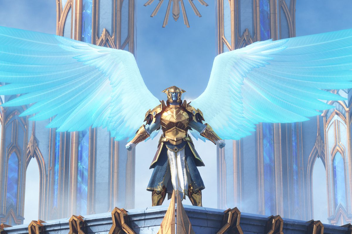 World of Warcraft - A Kyrian spreads their ethereal wings in the cinematic Shadowlands trailer