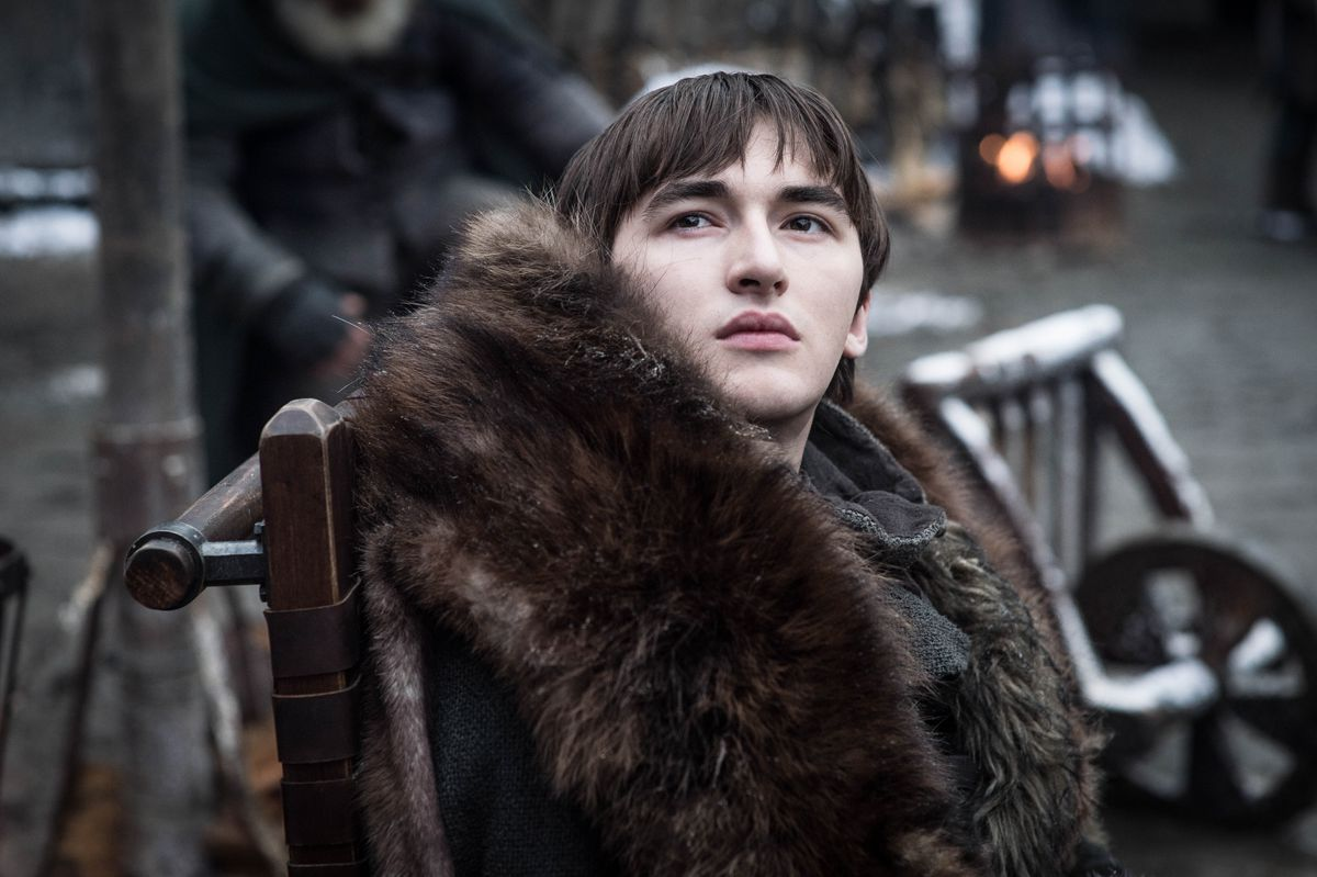 Game of Thrones season 8 - Bran Stark in the courtyard at Winterfell