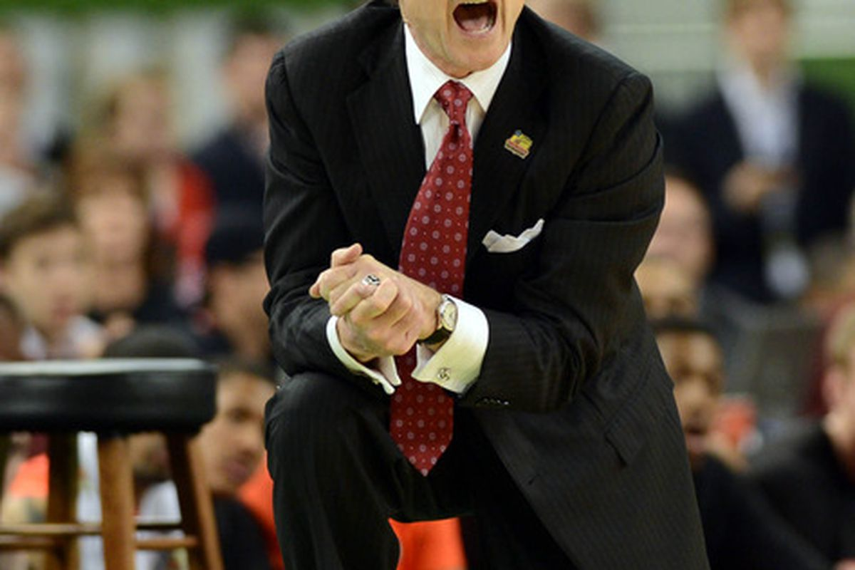 Rick Pitino, as always, has an opinion on who the Big East commissioner should be (Richard Mackson-US PRESSWIRE)