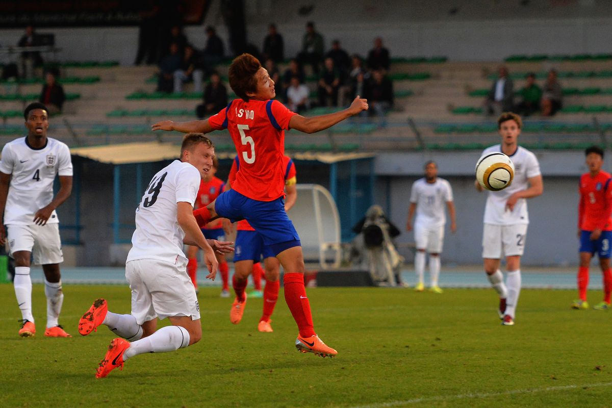 Woodrow scoring the opener for The Young Three Lions. Photo Credit