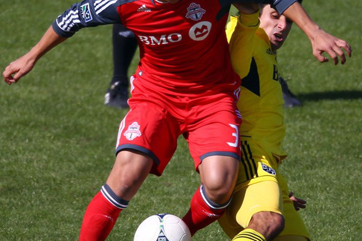 Bit of a collectors item here with Burgos actually in action for TFC.