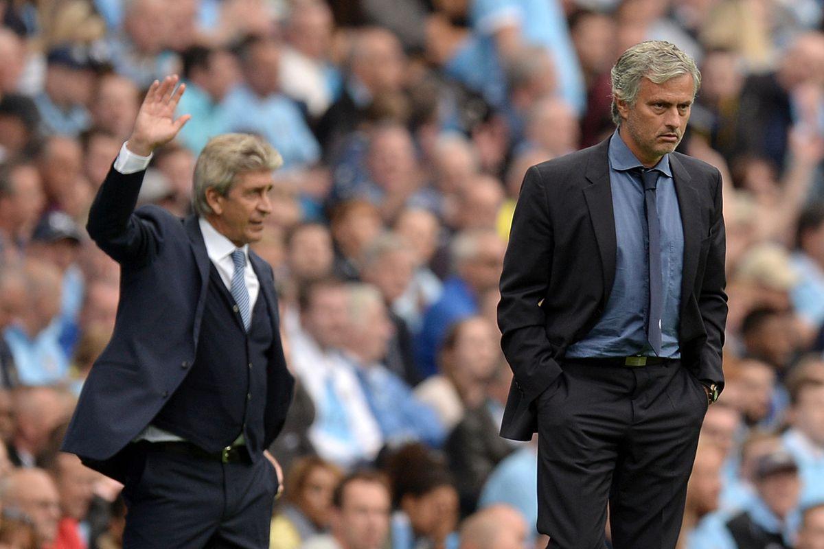 Manuel Pellegrini and Jose Mourinho - Premier League