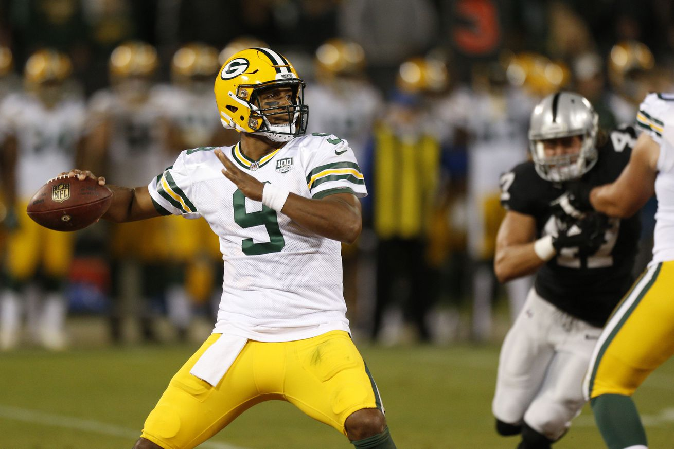 Raiders claim QB DeShone Kizer off waivers from Packers