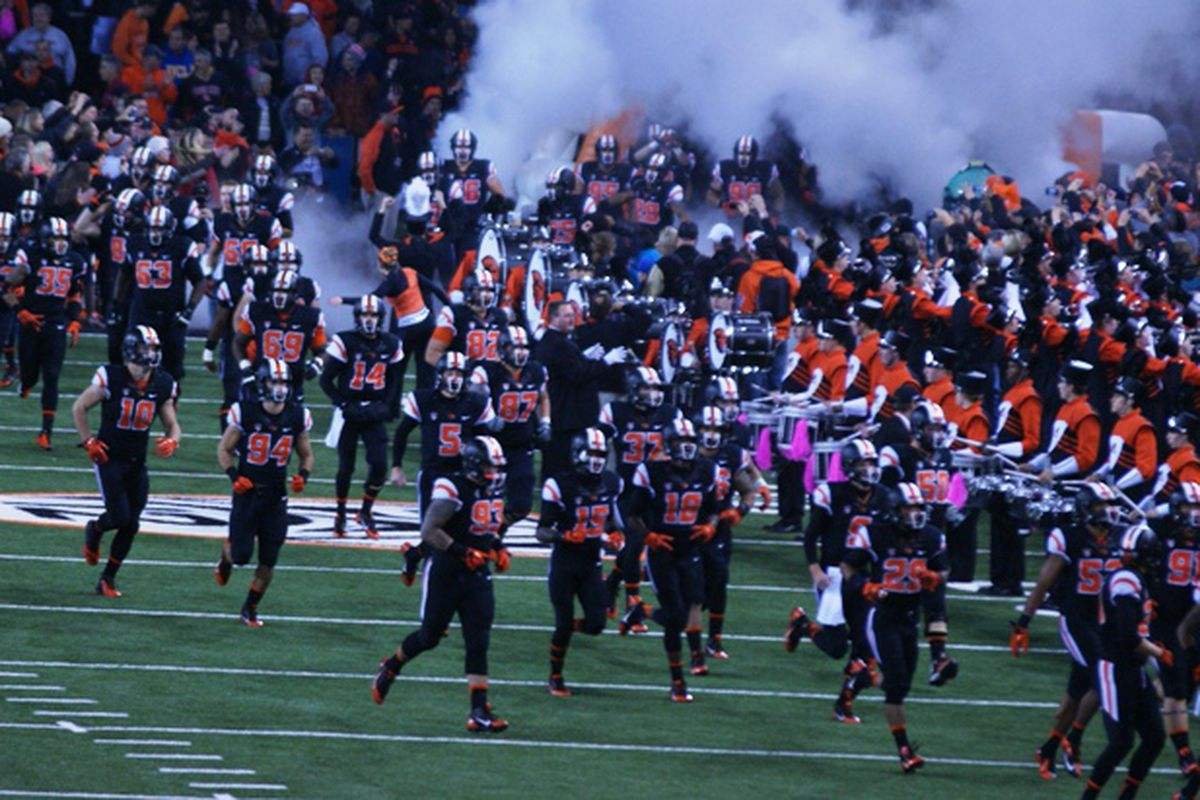 Oregon St. takes the field for one last night game at Reser this season tonight against Washington.