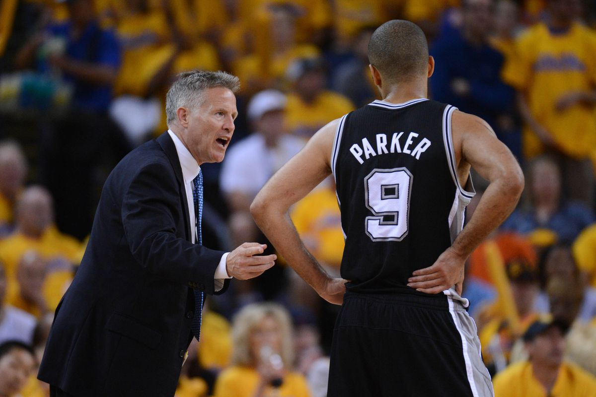 Brett Brown with Tony Parker in the 2013 playoffs.