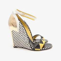 """In which we take our vineyard day trip to the next level. Sergio Rossi Clash Colorblock Woven Wedge Sandals, $1,340 at <a href=""""http://www.intermixonline.com/product/sergio+rossi+clash+colorblock+woven+wedge+sandals.do?sortby=ourPicks&CurrentCat=109565"""">I"""