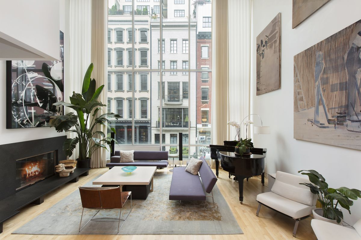 Contemporary tribeca townhouse hits the rental market for for Tribeca homes for sale