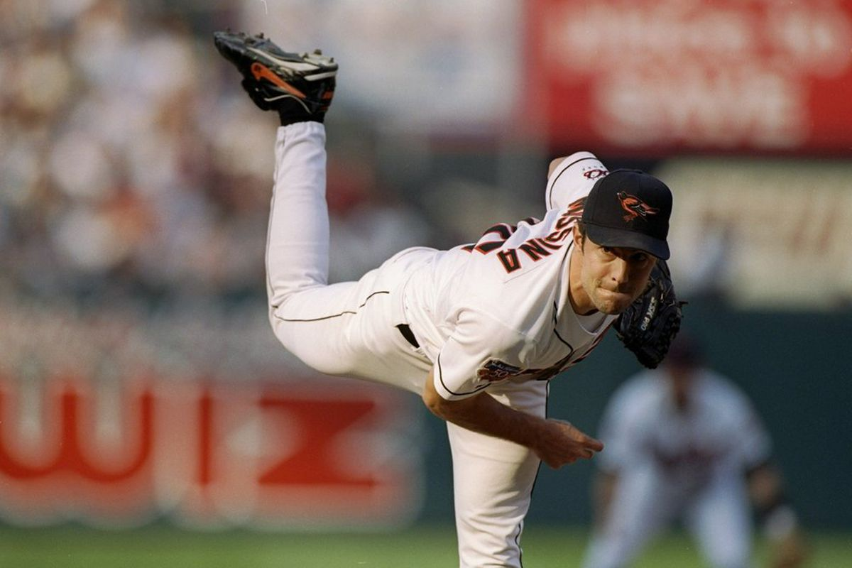 Mike Mussina was an All-Star five times in his career, all with the Orioles, but he'll always be remembered for the appearance he didn't make. (Doug Pensinger/Getty Images)