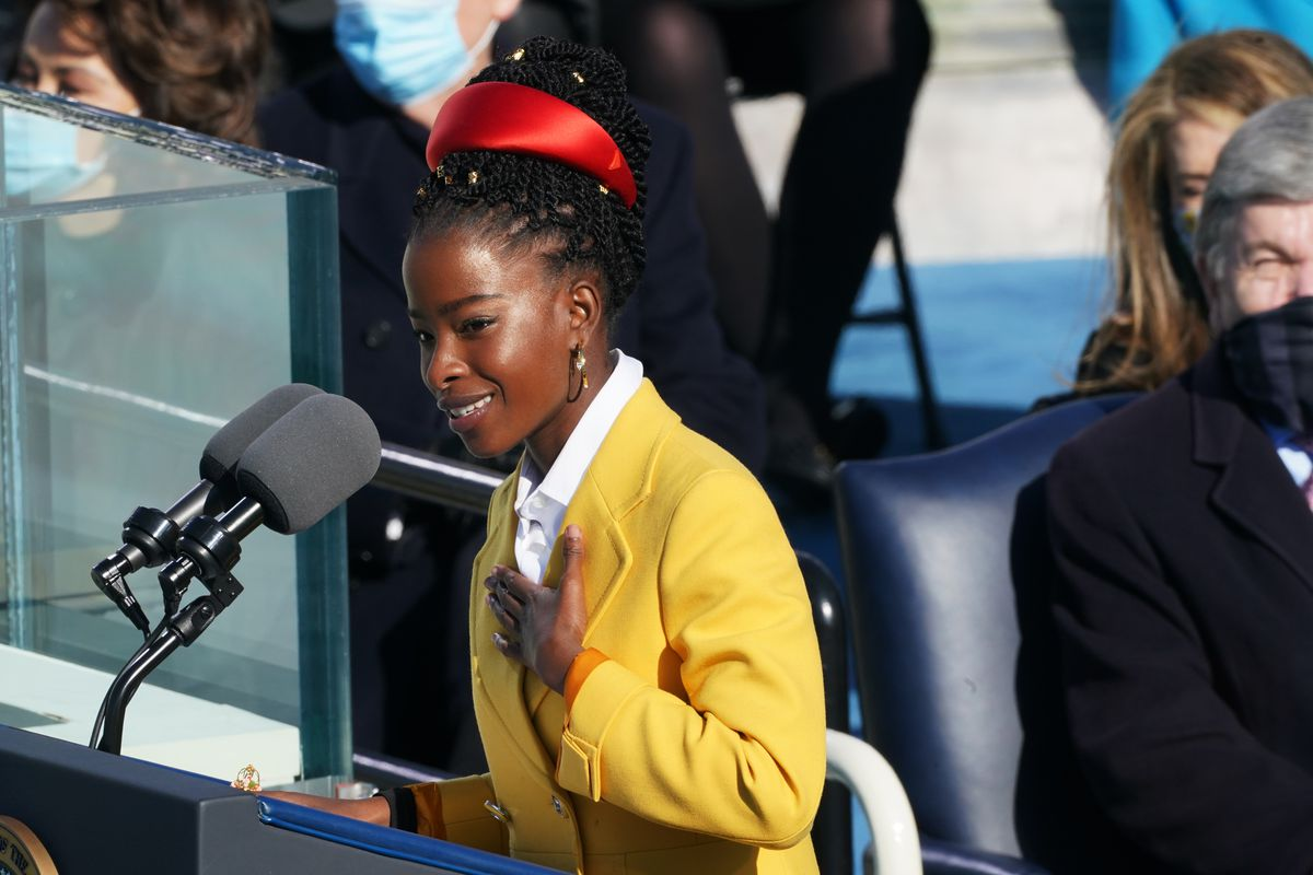 Amanda Gorman delivered a poem during the inauguration of U.S. President Joe Biden on the West Front of the U.S. Capitol on January 20, 2021 in Washington, DC.