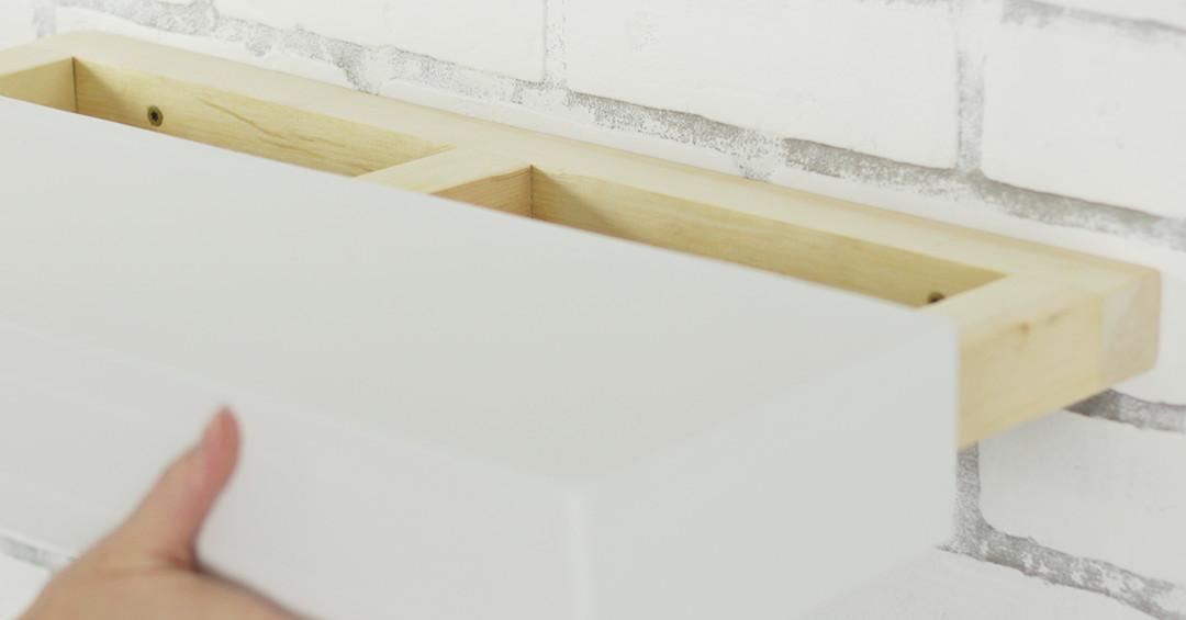 DIY Floating Shelf by House e Step 14 0