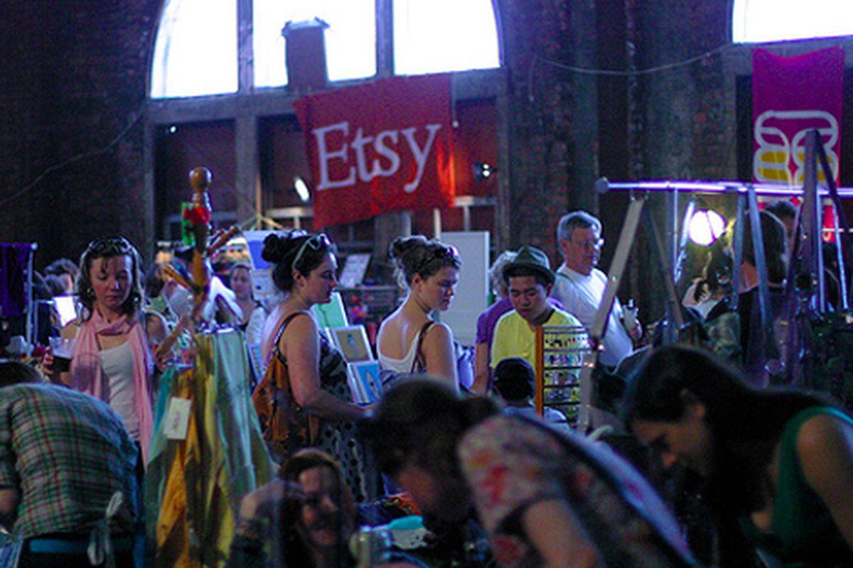 "Shoppers at last weekend's Brooklyn Lyceum craft market via <a href=""http://www.flickr.com/photos/rachel_photo/4572931586/in/pool-rackedny"">rachel.photo</a>/Racked Flickr Pool"
