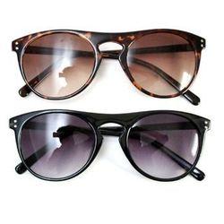"<b>Cheap Monday</b> Books sunglasses, $30 each at <a href=""http://shop.alterbrooklyn.com/0282001.html"">Alter</a>."