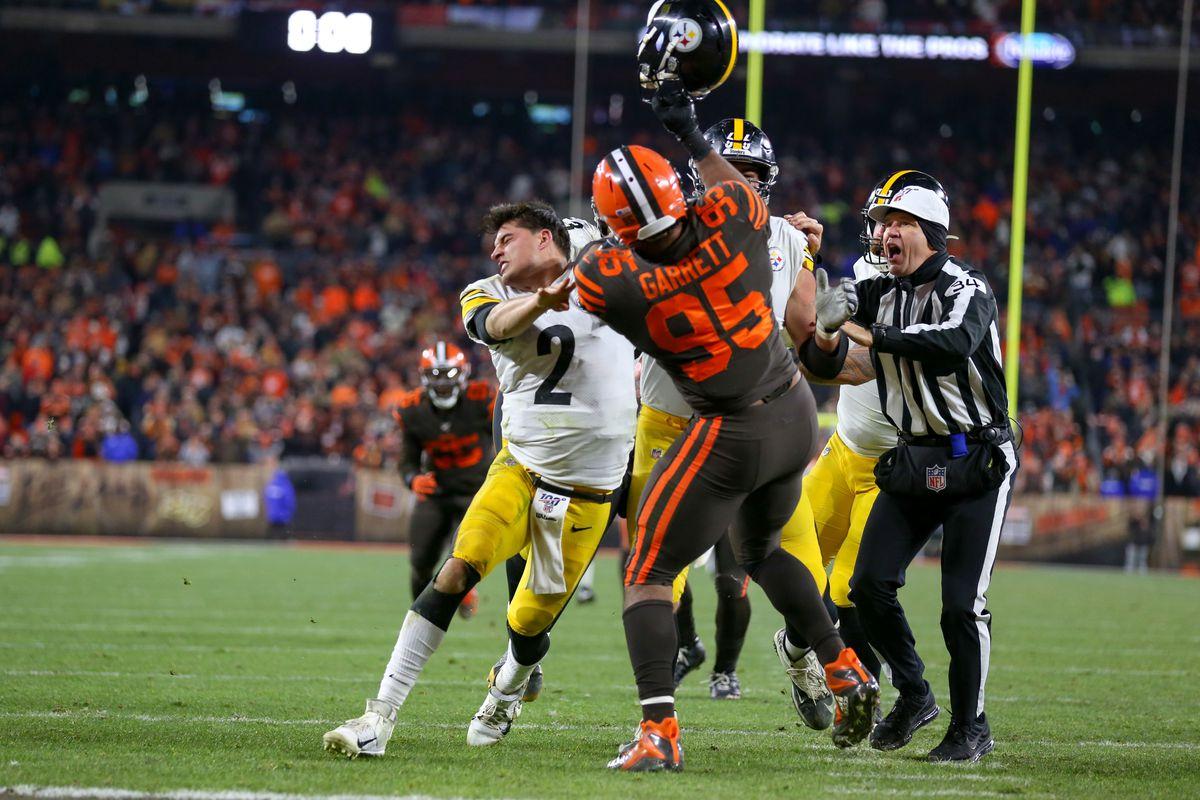 The Myles Garrett Vs Mason Rudolph Steelers Browns Fight
