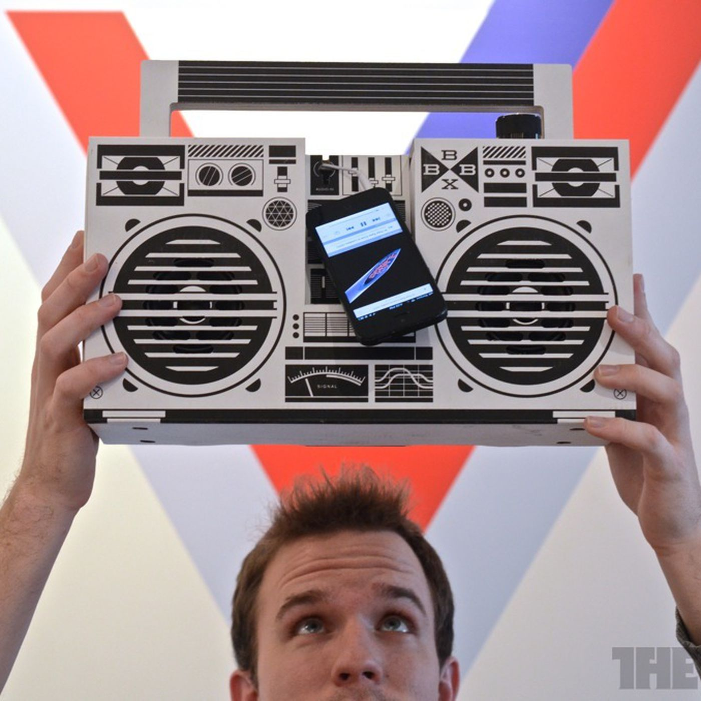 That Sweet Cardboard Sound Jamming Out With The Berlin Boombox The Verge