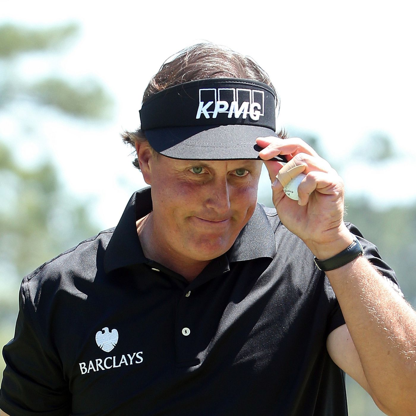 Phil Mickelson bombs in the best putt of the Masters so far