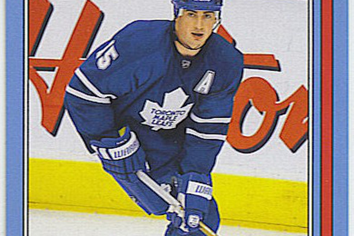 Tomas Kaberle from the excellent '08-09 Upper Deck OPC retro set.  This set was so well-executed and so well-liked that UD was never permitted to do anything like it ever again.