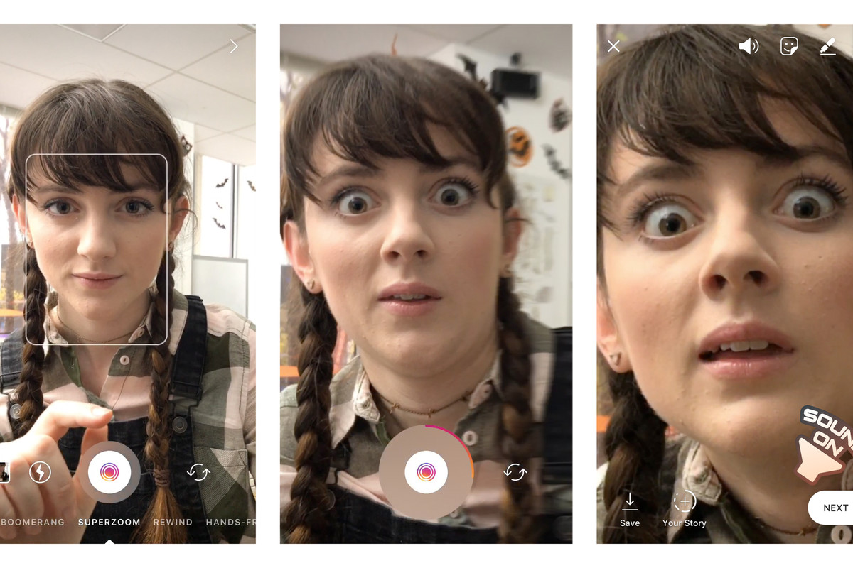 Instagram gets Superzoom for dramatic close-up videos, Halloween face filters and stickers