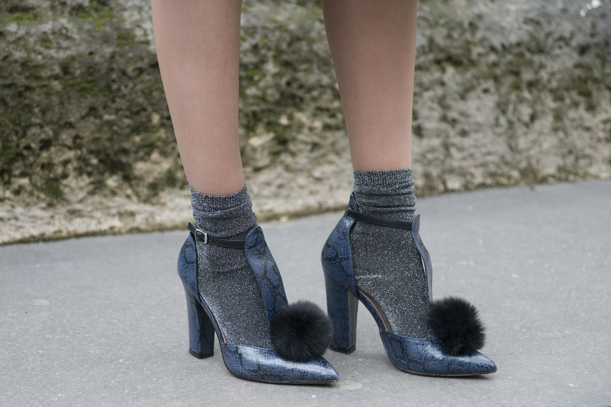 Asos shoes make an appearance at Paris Fashion Week in February. Photo: Kirsten Sinclair/Getty Images