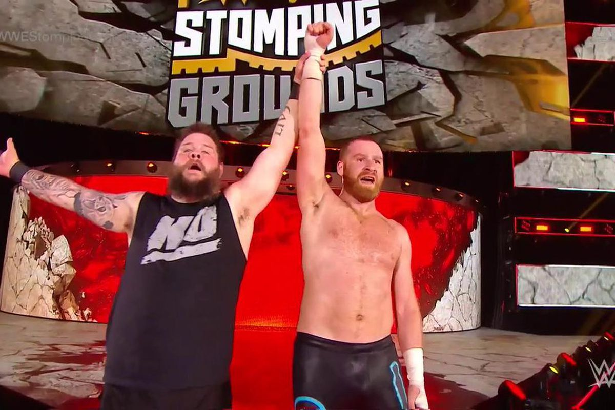 Wwe Stomping Grounds Results Kevin Owens And Sami Zayn