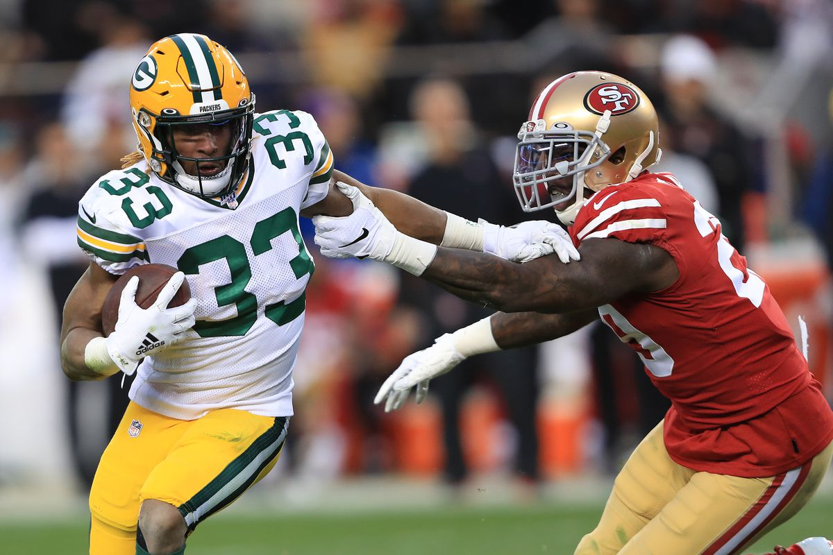 Breaking Down The Pros And Cons Of Re Signing Aaron Jones Acme Packing Company