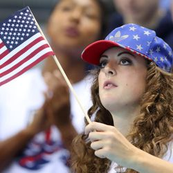 United States' Allison Schmitt watches the swimming competitions at the 2016 Summer Olympics, Thursday, Aug. 11, 2016, in Rio de Janeiro, Brazil.   Last week, Olympic swimmers Michael Phelps and Allison Schmitt both discussed their personal battles with depression.