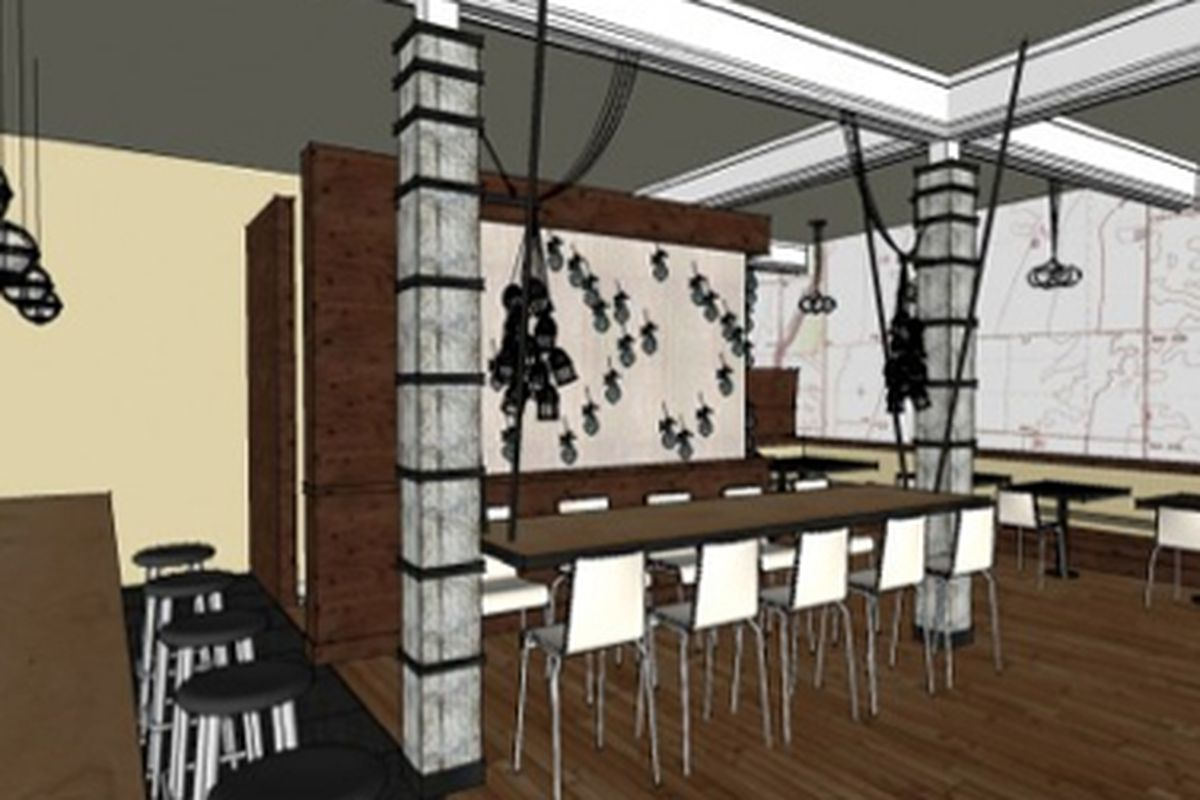 Rendering of The Plate Shop.