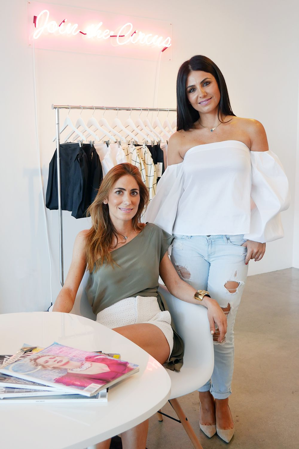 Jennifer and Nicole Nosratian, founders of Circus Royalty Los Angeles