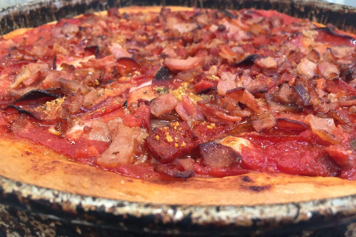Gino's East's Meaty Legend with Chorizo