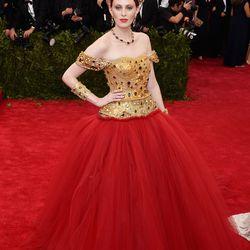Karen Elson in Dolce & Gabbana