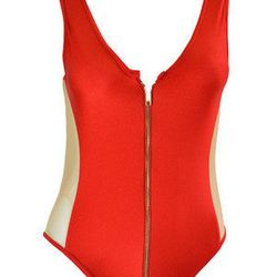 """Mazan in red, <a href=""""http://www.demerarausa.com/collections/5th-element-swim-capsule/products/mazan-red"""">$189</a>"""